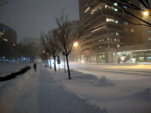 Crystal Drive during the 2009 Snowpocalypse