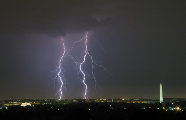 Lightning flashes over the District (file photo)