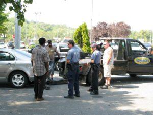 Towing dispute outside the Arlington DMV (file photo)