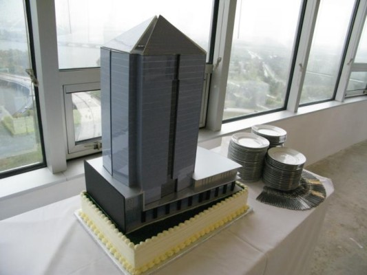 1812 N. Moore Street model at groundbreaking ceremony