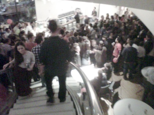 The crowd at Artisphere for the Burst opening extravaganza