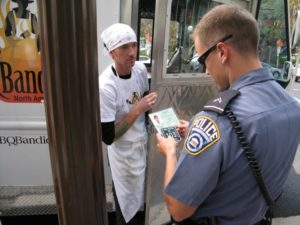 Food truck has its license inspected by police in Rosslyn (file photo)