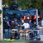 Transformers 3 filming at the Air Force Memorial (photo by Stephen McCay)