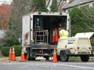 Sewer relining work in North Arlington