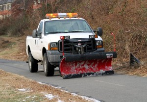 Snow plow on the W&OD Trail in 2010