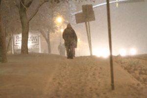 Snowy scene along Columbia Pike 1/26/11