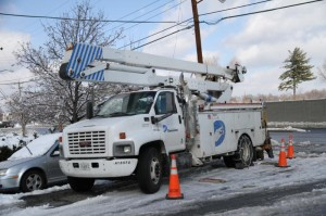 Dominion bucket truck near North Glebe Road (file photo)
