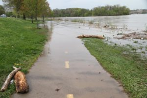 Part of the Mt. Vernon Trail is closed due to flooding (file photo)