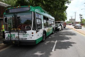 Accident involving ART bus near Ballston