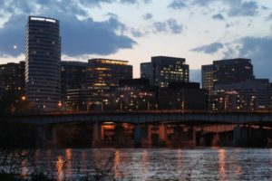 Rosslyn skyline at dusk