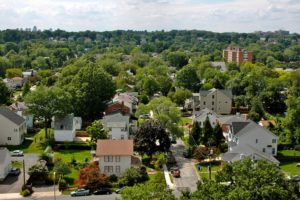 Bird's eye view of an Arlington neighborhood by Christopher Doorley