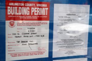 File photo of permits for a Pinkberry store in Clarendon