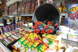 Fireworks booth at the corner of Columbia Pike and Glebe Road (file photo)
