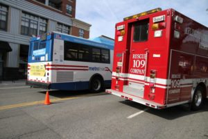 Metrobus and fire department vehicle (file photo)