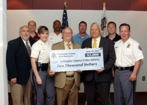 Arlington Crime Solvers Receives Grant from Prince George's Crime Solvers