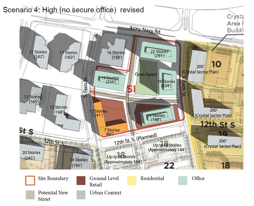 New office complex under consideration for pentagon city for Pentagon house plans