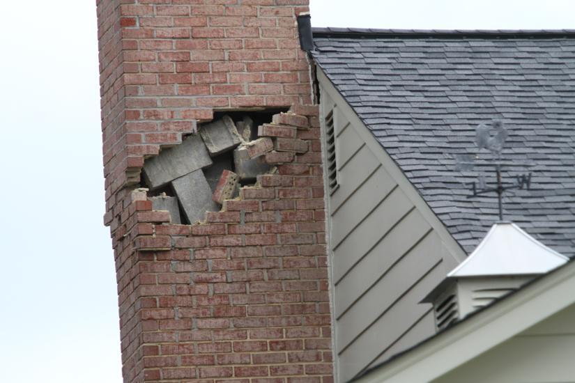 Spotted Earthquake Damage In N Arlington Arlnow Com