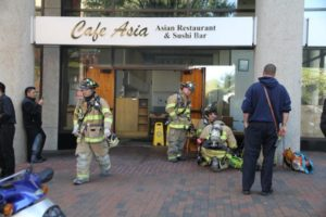 Kitchen fire at Cafe Asia in Rosslyn