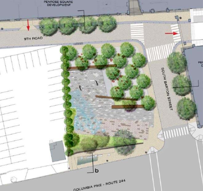 Construction Starting On Penrose Square Public Plaza Arlnow Com