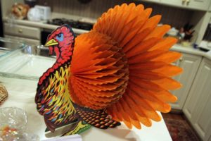 A decorative Thanksgiving turkey
