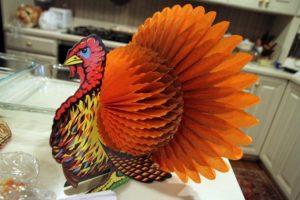 A decorative Thanksgiving turkey