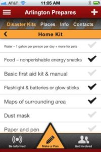 Arlington Prepares iPhone app screenshot