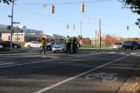 A bicyclist was struck by a car at the intersection of Washington Blvd and N. Quincy Street