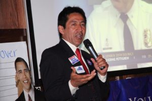 Re-elected County Board member Walter Tejada at Arlington Democrats 2011 election victory party