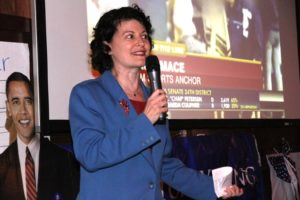 State Senator Barbara Favola at Arlington Democrats 2011 election victory party