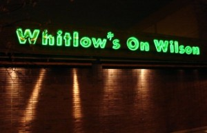 Whitlow's on Wilson (photo via Facebook)