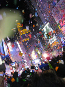 New Year's Eve in Times Square (photo by Dave Hunt)