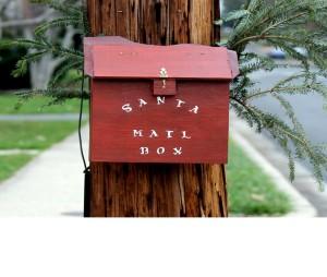 Santa mailbox near George Mason Dr. and 26th St. N.