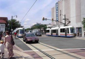 Columbia Pike streetcar rendering