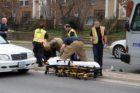 A cyclist was struck by a Metrobus on S. Glebe Road Tuesday morning