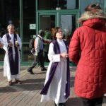 'Ashes to Go' in Virginia Square on Ash Wednesday
