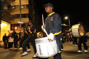 Drummer at the 2011 Clarendon Mardi Gras parade