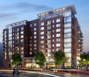 New apartment building proposed for former Crystal City Post Office site (rendering courtesy Kettler)