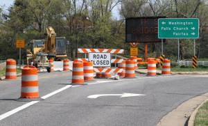 10th Street Bridge over Route 50, closed for demolition
