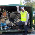 Metal recycling at E-CARE (photo via Arlington County DES)