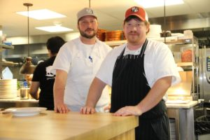 Green Pig Bistro's Chef Will Sullivan and Chef/Owner Scot Harlan (right)