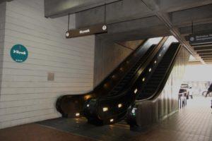 Escalator at Rosslyn metro station