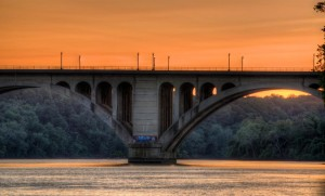 The Key Bridge at sunset by Alex