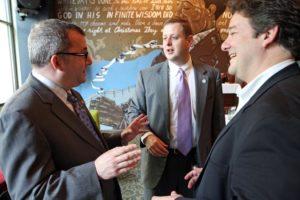 State Sen. Adam Ebbin (left) and Del. Patrick Hope (right) with Del. Alfonso Lopez