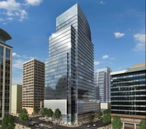 Rendering of the Central Place project in Rosslyn (via JBG Cos.)