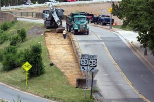 Work on the Courthouse Road bridge (photo courtesy Keith Hall)