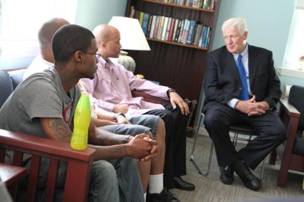 Rep. Jim Moran visits the Phoenix House treatment center near Ballston