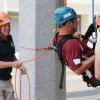 Steve Chenevey after rappel test run