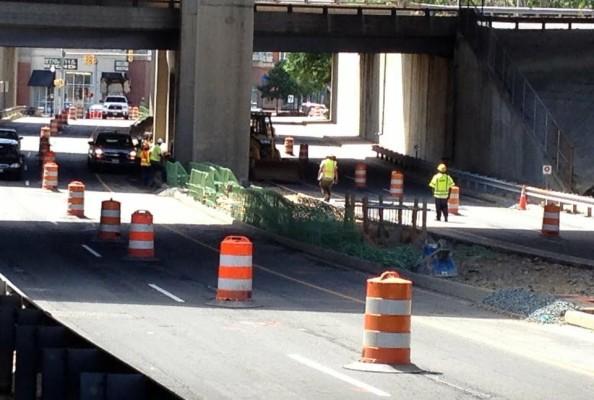 Earlier road work on S. Joyce Street (photo courtesy Arlington County)