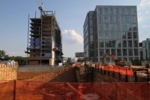 High rise construction in Ballston