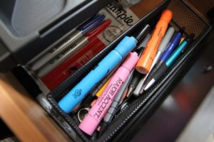 Pens, markers, pencils and other school/office supplies